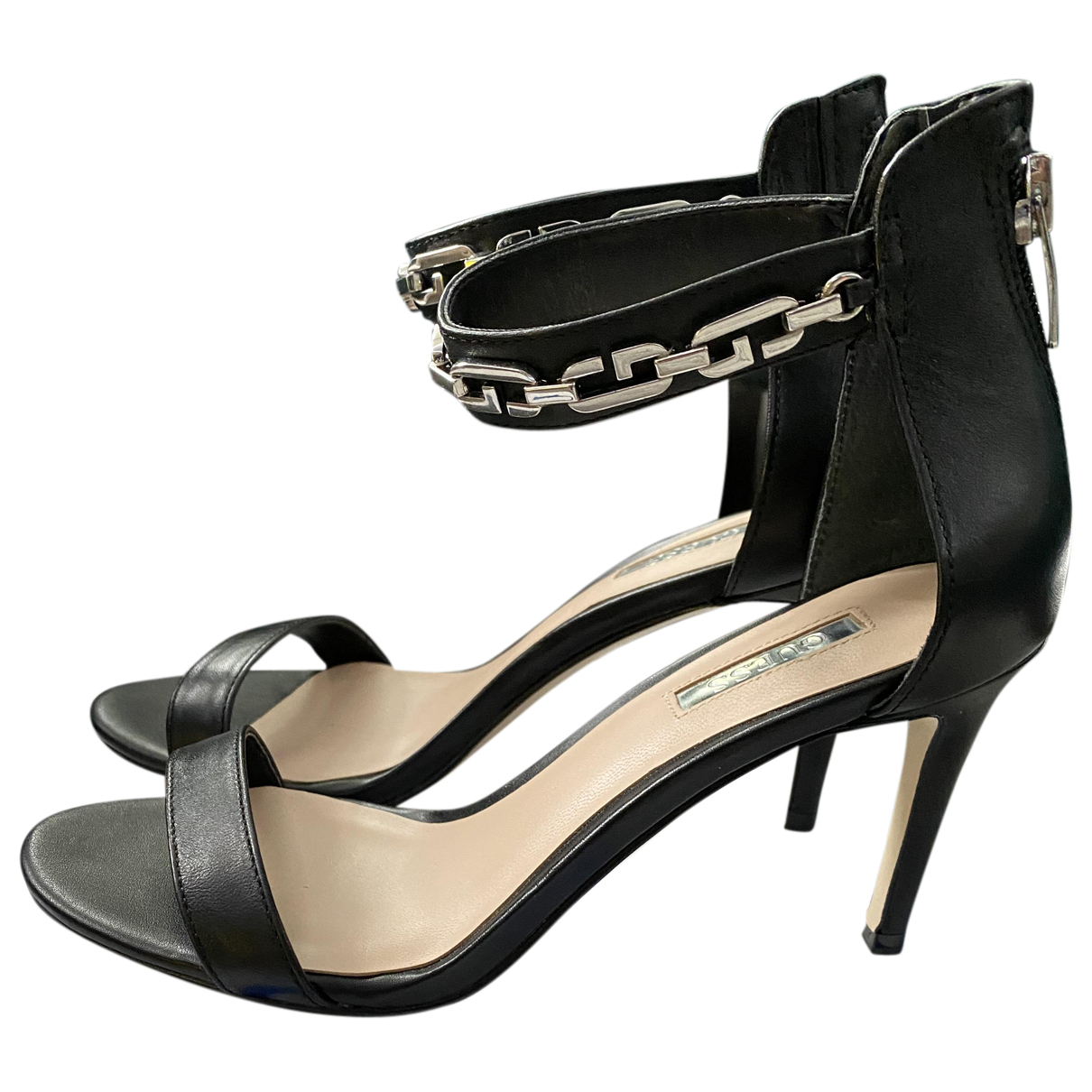 Guess N Black Leather Sandals for Women 36 EU