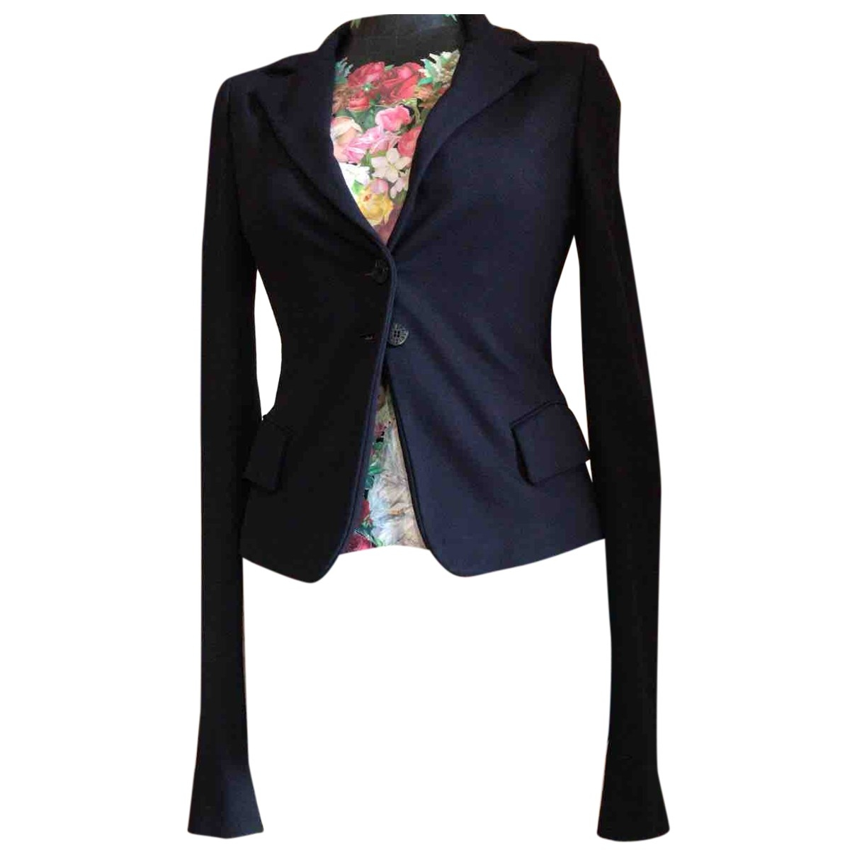 Patrizia Pepe \N Blue Wool jacket for Women 44 IT