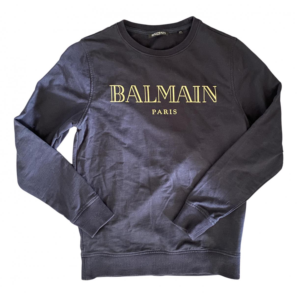 Balmain \N Blue Cotton Knitwear for Women 36 FR