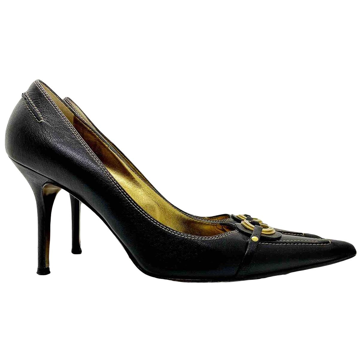 Dolce & Gabbana - Escarpins   pour femme en cuir - marron