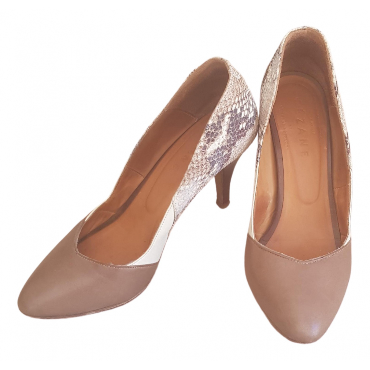 Sezane \N Pumps in  Beige Leder