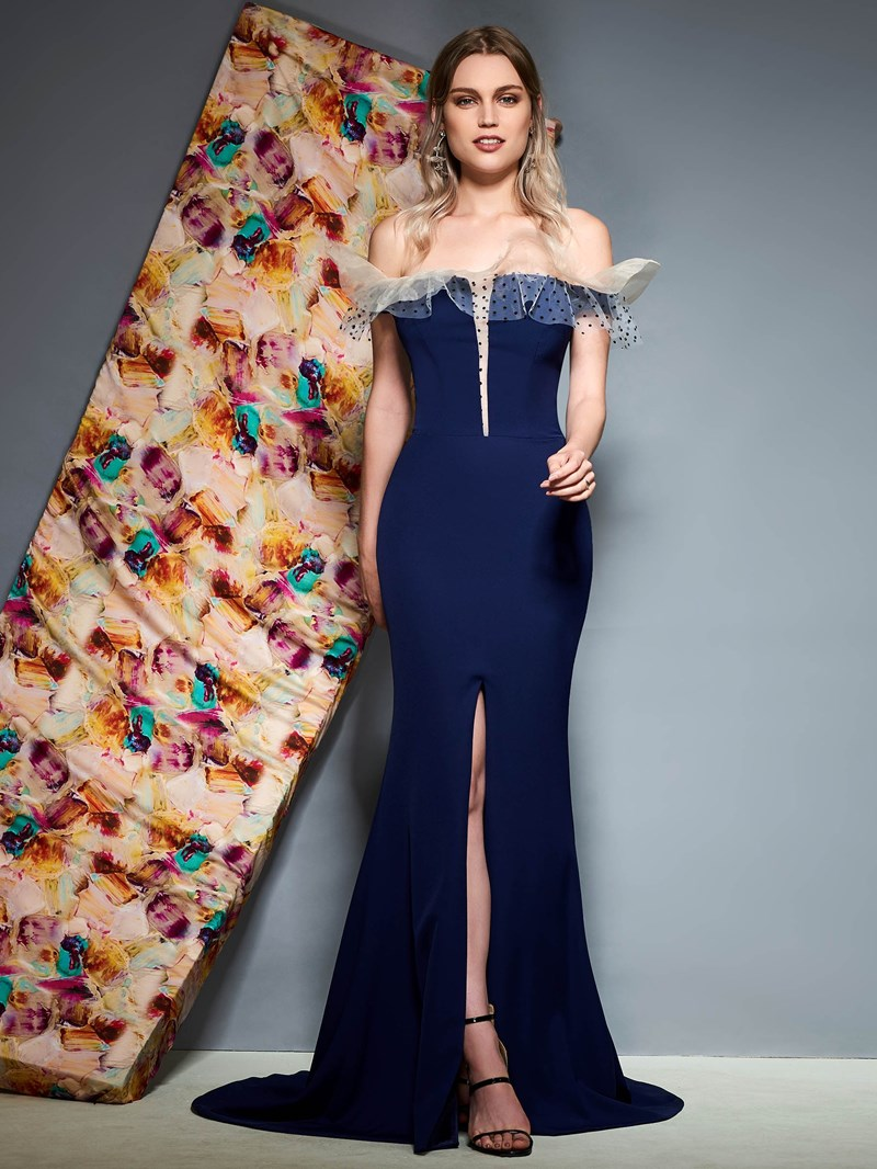 Ericdress Off The Shoulder Mermaid Evening Dress