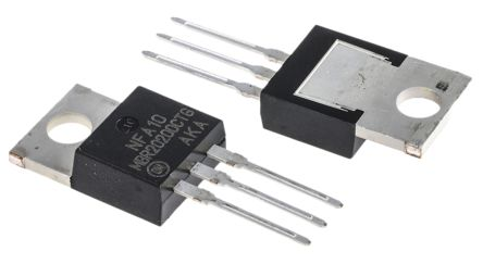 ON Semiconductor ON Semi 200V 20A, Dual Schottky Diode, 3-Pin TO-220AB MBR20200CTG (5)