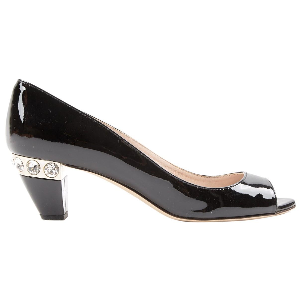 Miu Miu \N Black Patent leather Heels for Women 35.5 EU