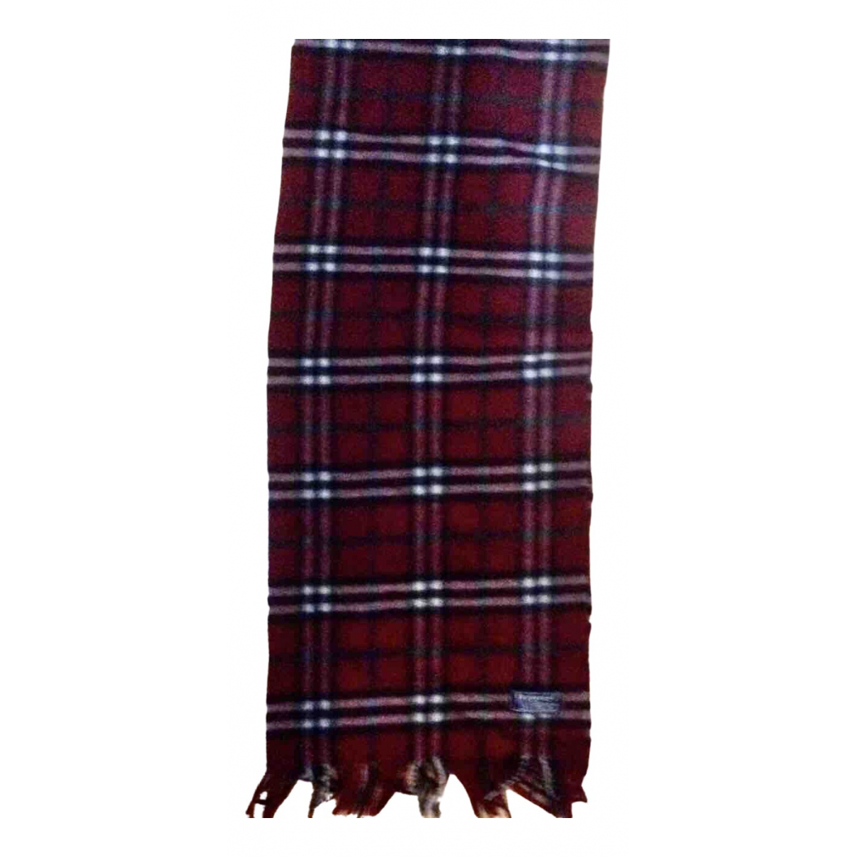 Burberry - Foulard   pour femme en laine - bordeaux