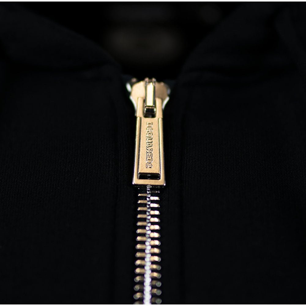 Dsquared2 Icon Hoodie Colour: BLACK, Size: EXTRA LARGE