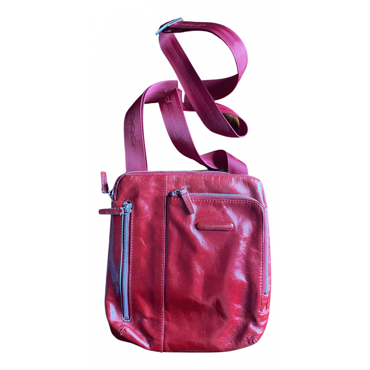 Piquadro \N Handtasche in  Rot Leder