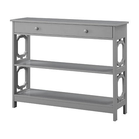 Convenience Concepts Omega 1-Drawer Console Table, One Size , Gray
