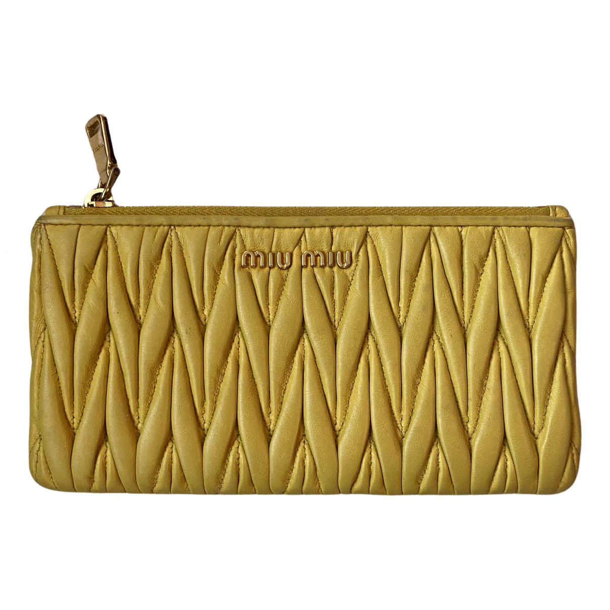 Miu Miu N Yellow Leather Purses, wallet & cases for Women N