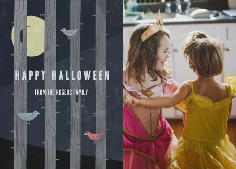 Halloween Photo Cards 5x7 Folded Cards, Standard Cardstock 85lb, Card & Stationery -Halloween Moon