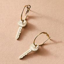 1pair Key Drop Earrings