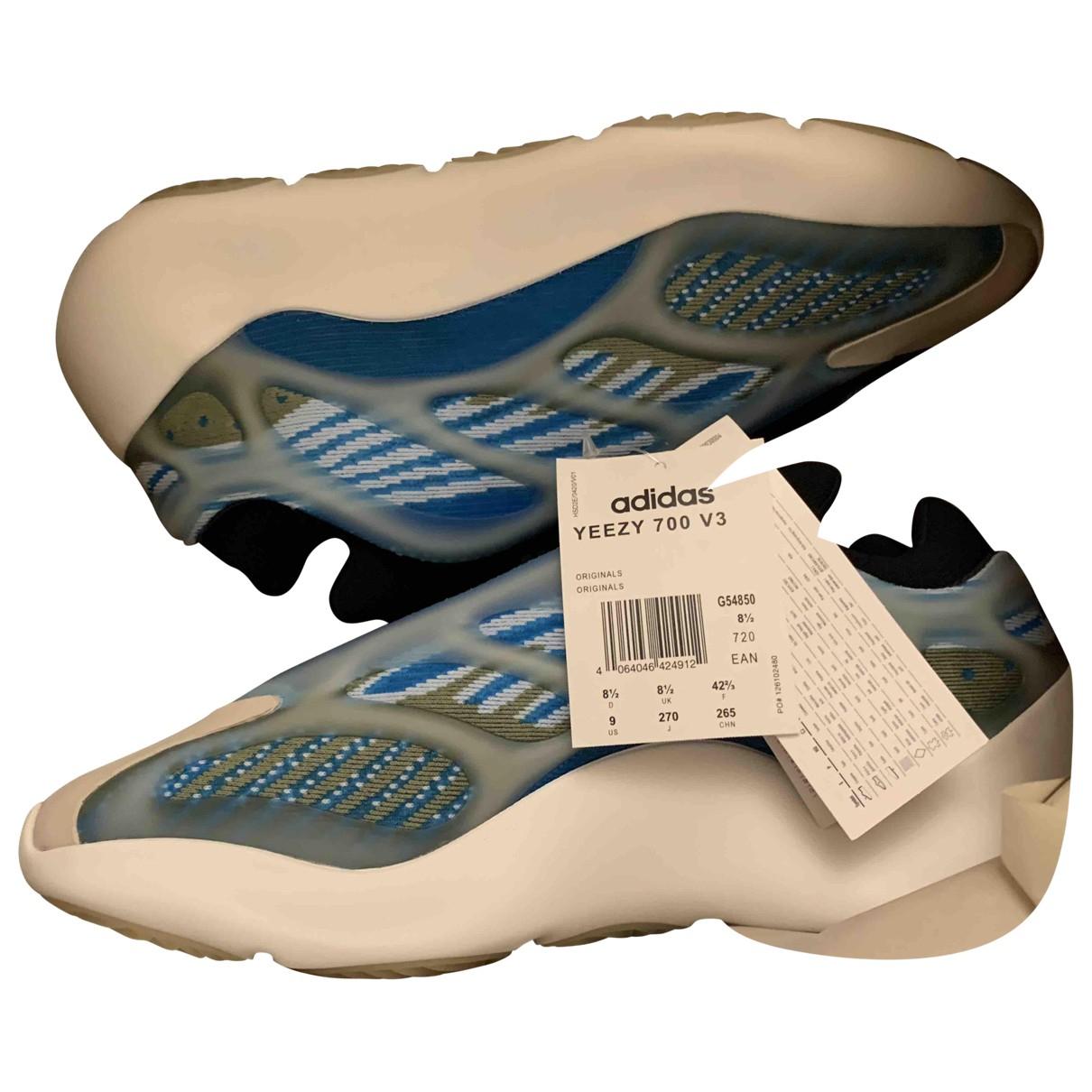Yeezy X Adidas - Baskets Boost 700 V3 pour homme en toile - bleu