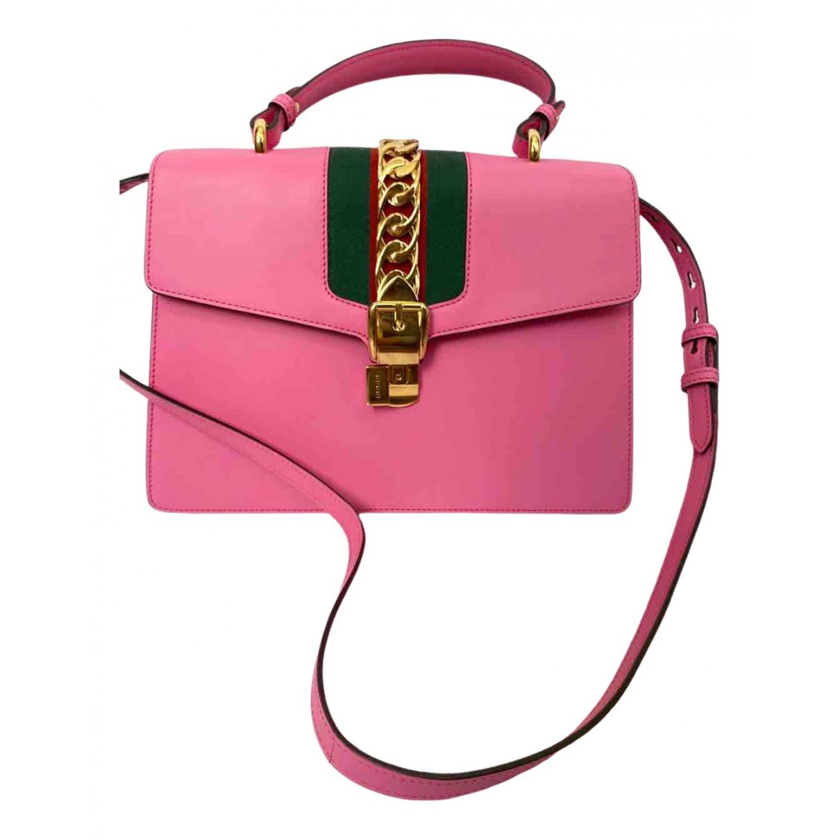 Gucci - Sac a main Sylvie pour femme en cuir - rose
