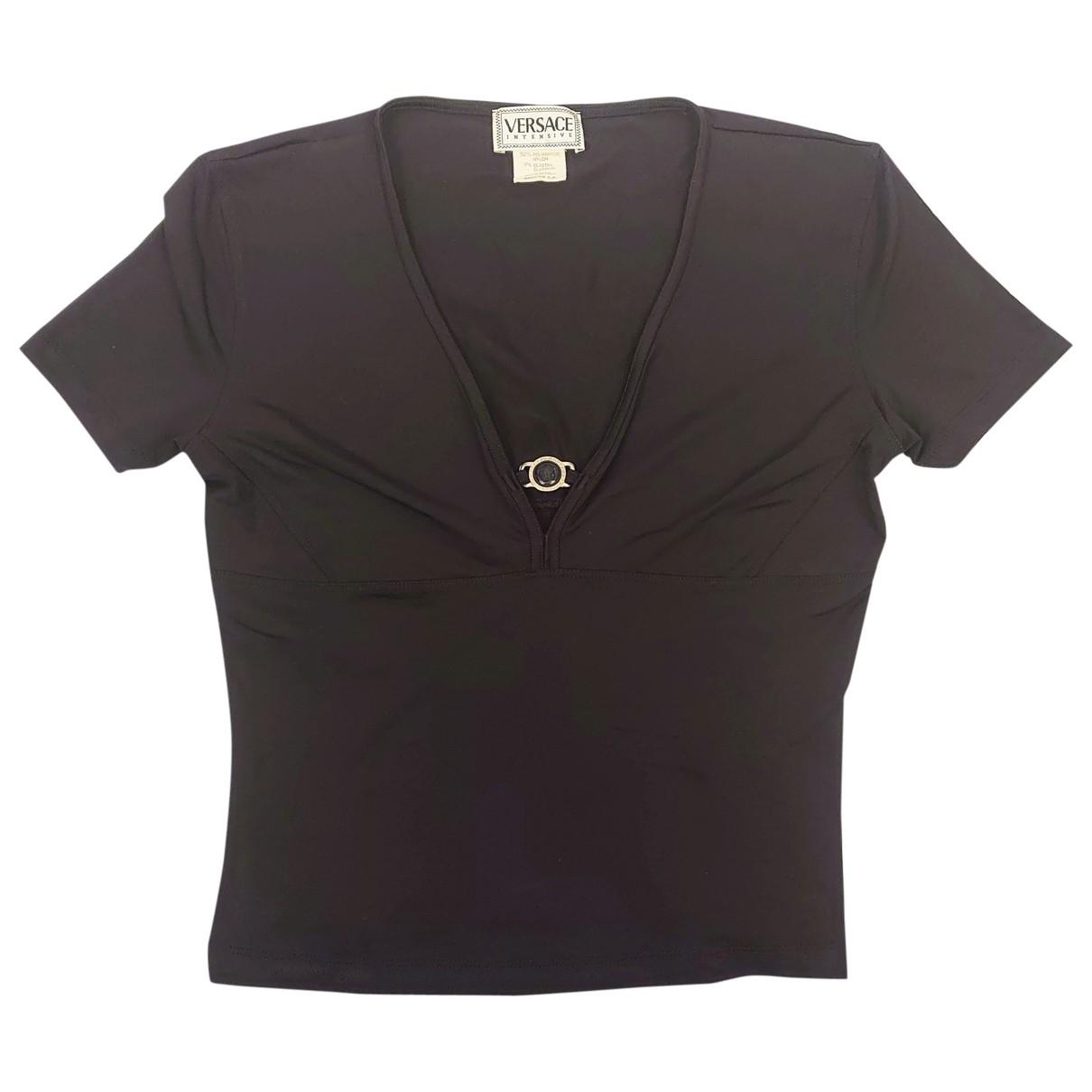 Versace - Top   pour femme - noir