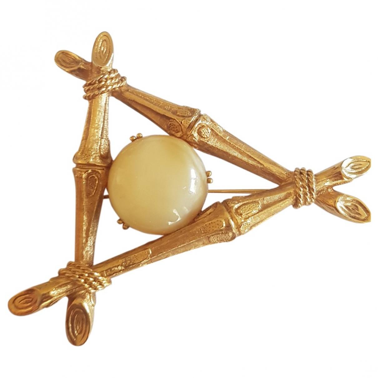 Carven - Broche   pour femme en plaque or - dore