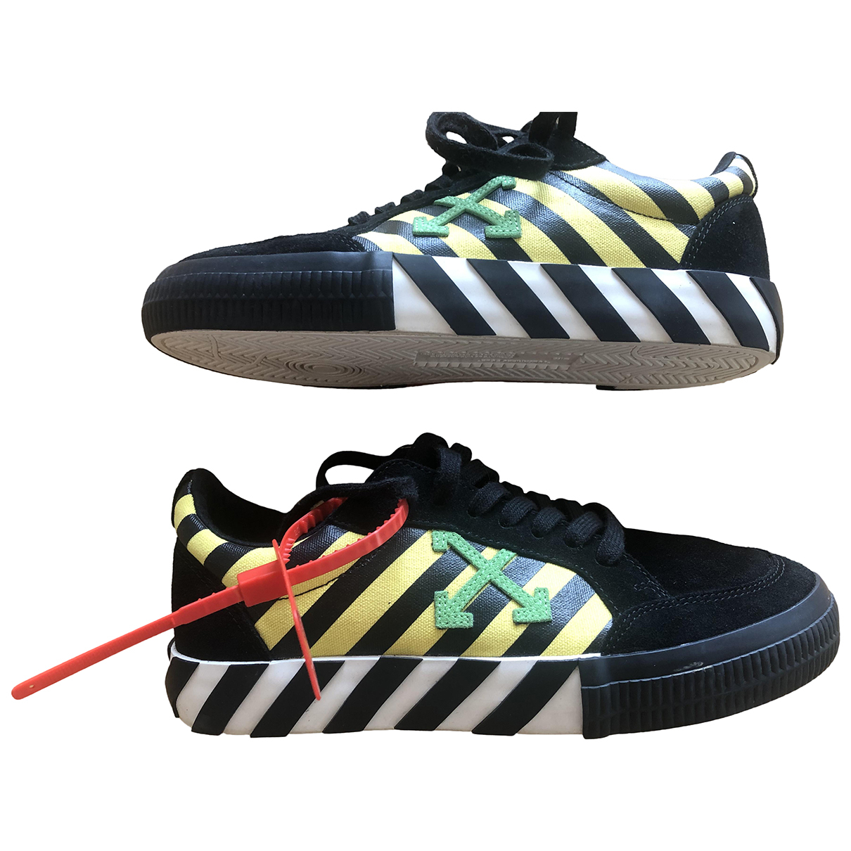Off-white Vulc Black Suede Trainers for Men 40 EU