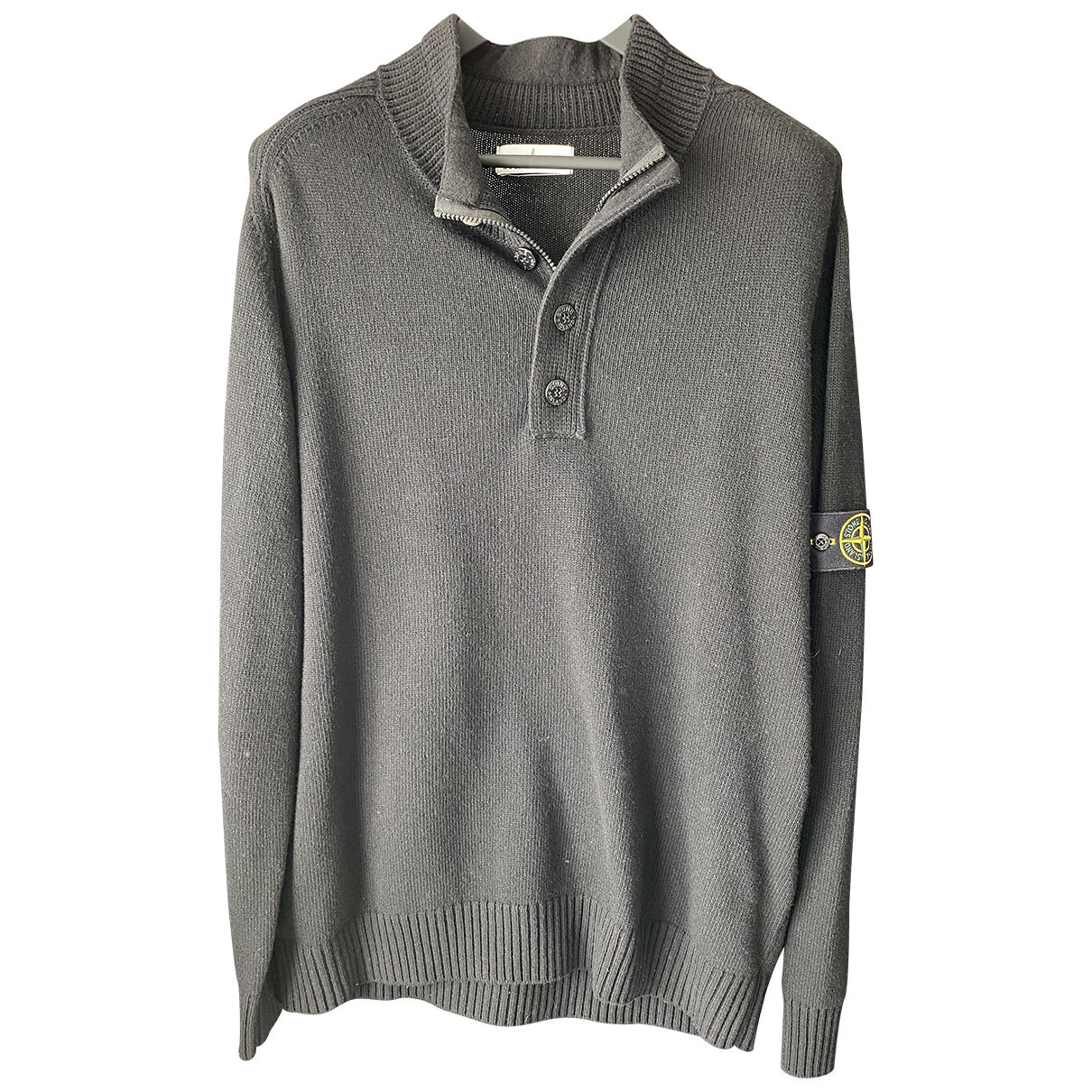 Stone Island N Black Wool Knitwear & Sweatshirts for Men XXXL International