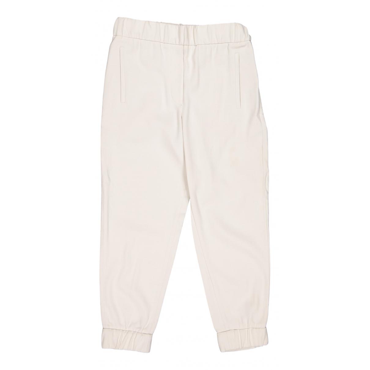 Brunello Cucinelli \N Beige Wool Trousers for Women 40 IT