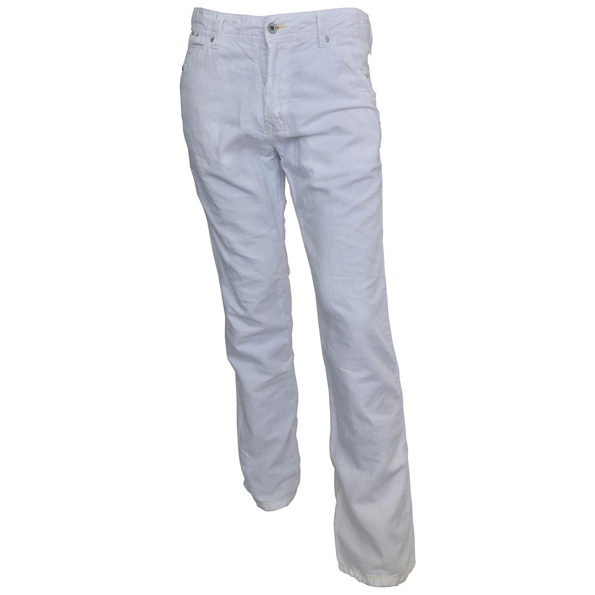 Diesel \N White Cotton Jeans for Men 30 US