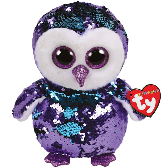 Ty Flippables™ Moonlight Purple Sequin Owl Plush Toy, Medium | Michaels®