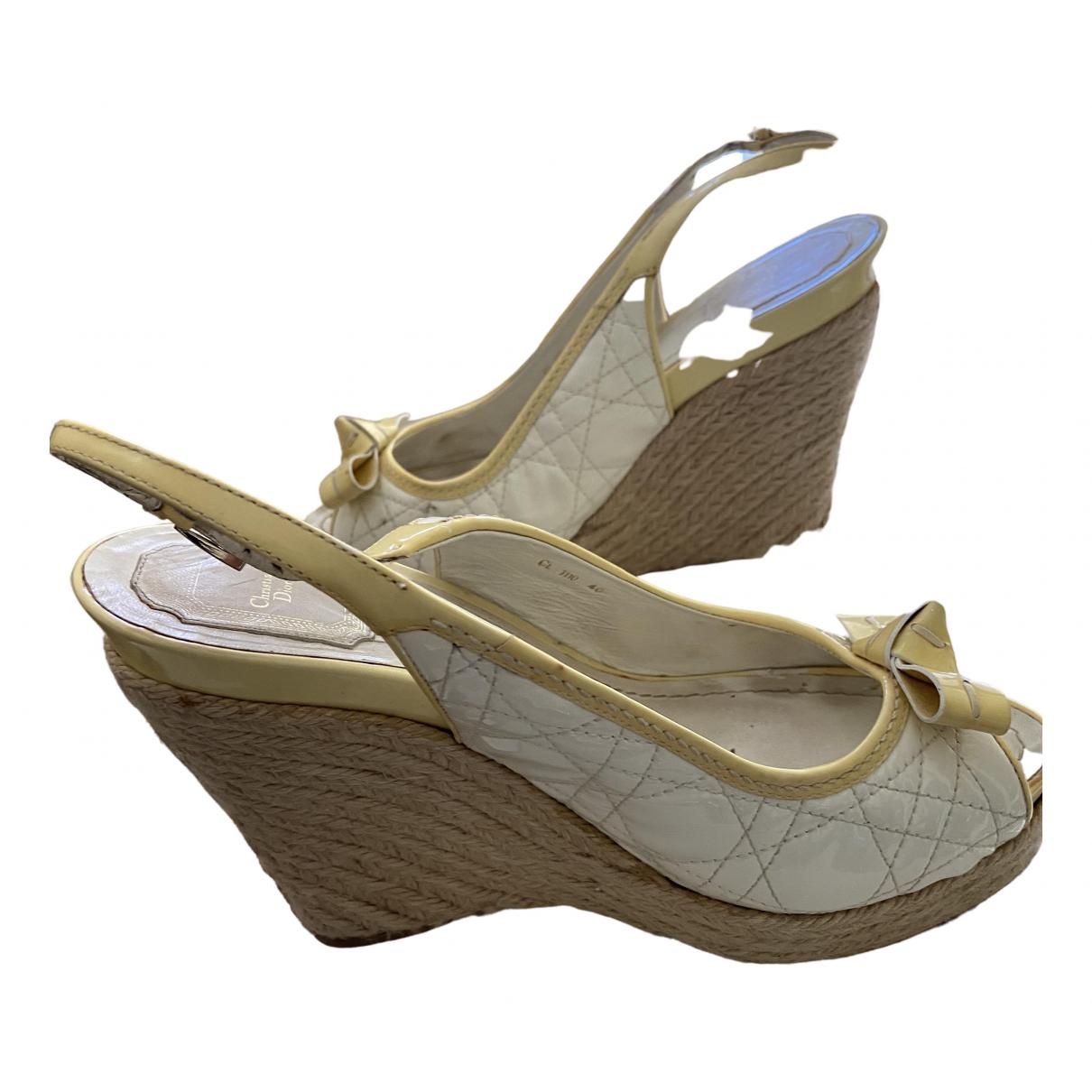 Dior - Espadrilles   pour femme en cuir - beige