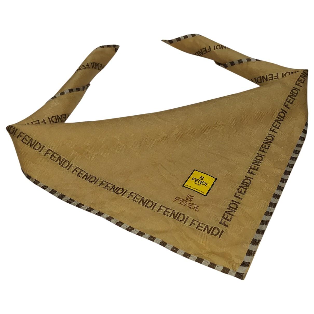Fendi \N Beige Cotton Silk handkerchief for Women \N