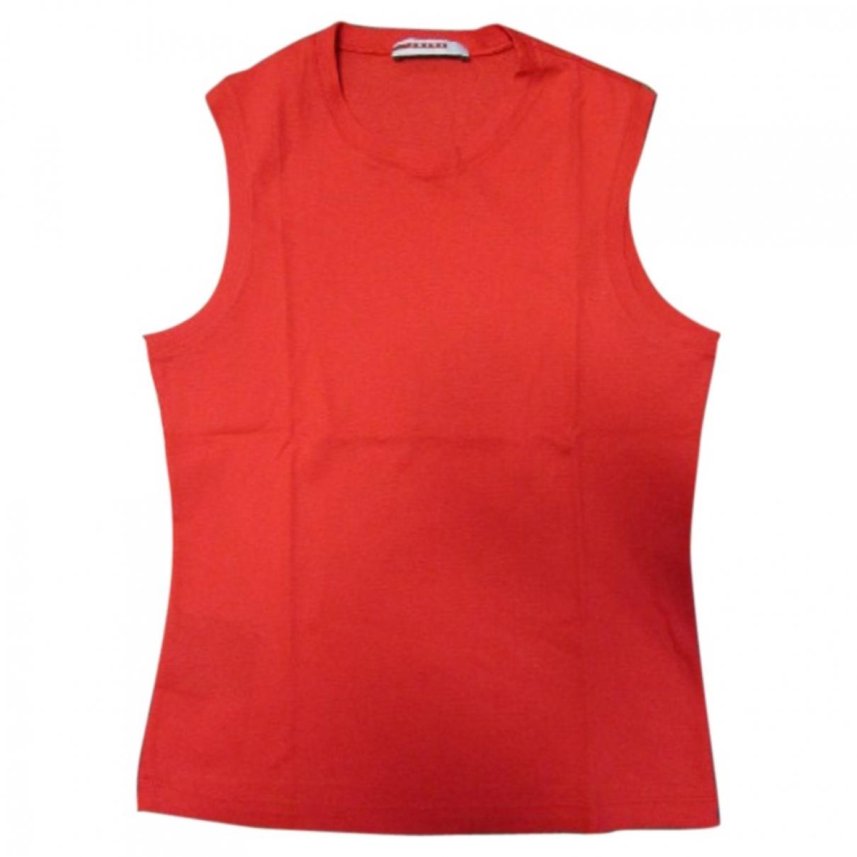 Prada \N Red Cotton  top for Women S International