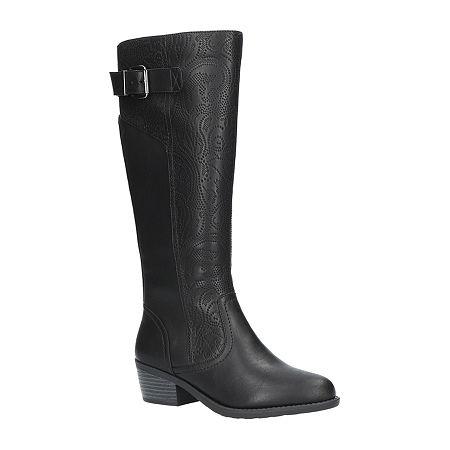 Easy Street Womens Arwen Plus Booties Block Heel, 9 1/2 Medium, Black