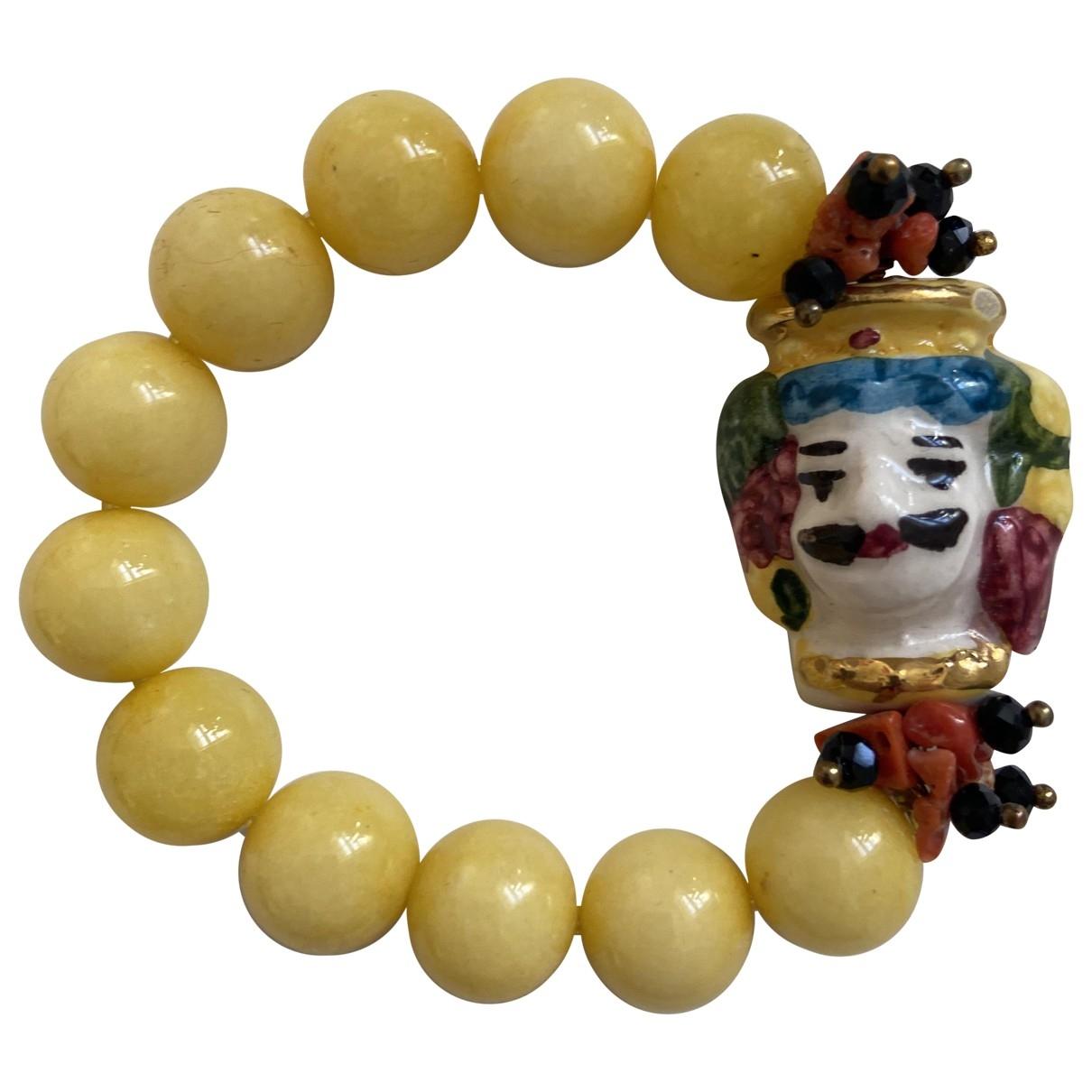 - Bracelet   pour femme en ceramique - jaune
