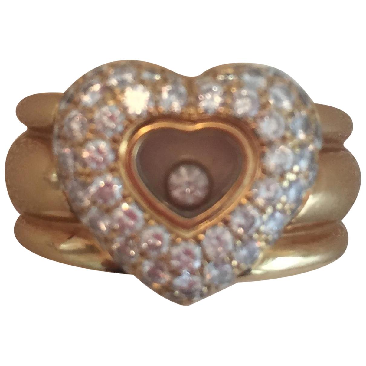 Chopard - Bague Happy Diamonds pour femme en or jaune - dore