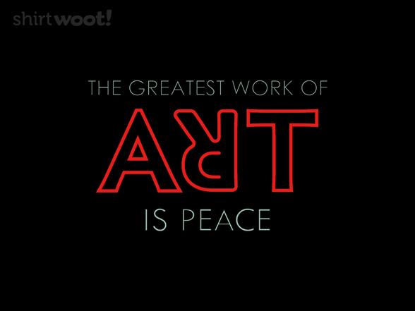 Art Is Peace T Shirt