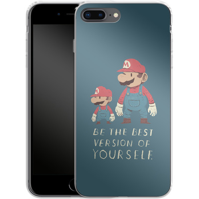 Apple iPhone 8 Plus Silikon Handyhuelle - Be The Best Version of Yourself von Louis Ros