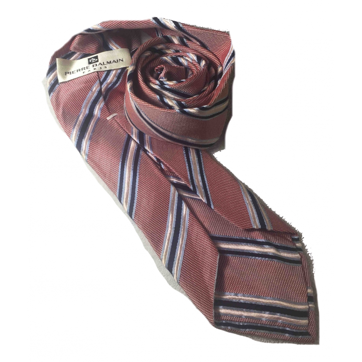 Pierre Balmain \N Krawatten in  Rosa Seide