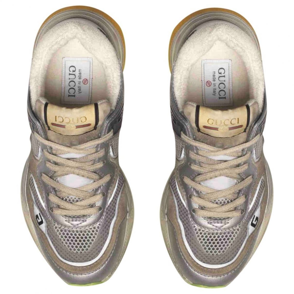 Gucci Ultrapace Sneakers in  Silber Leder