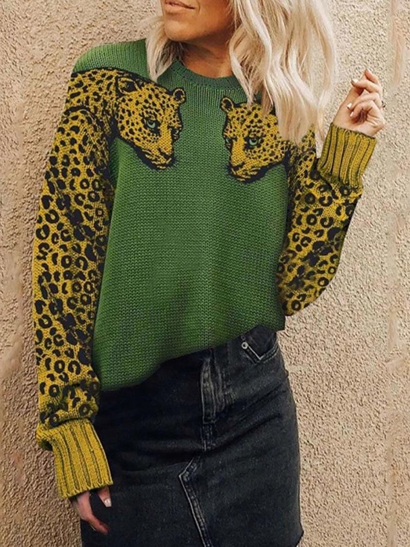 Ericdress Regular Thin Round Neck Mid-Length Sweater