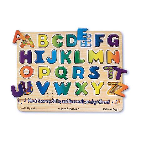 Melissa & Doug Alphabet Sound Puzzle, One Size , Multiple Colors