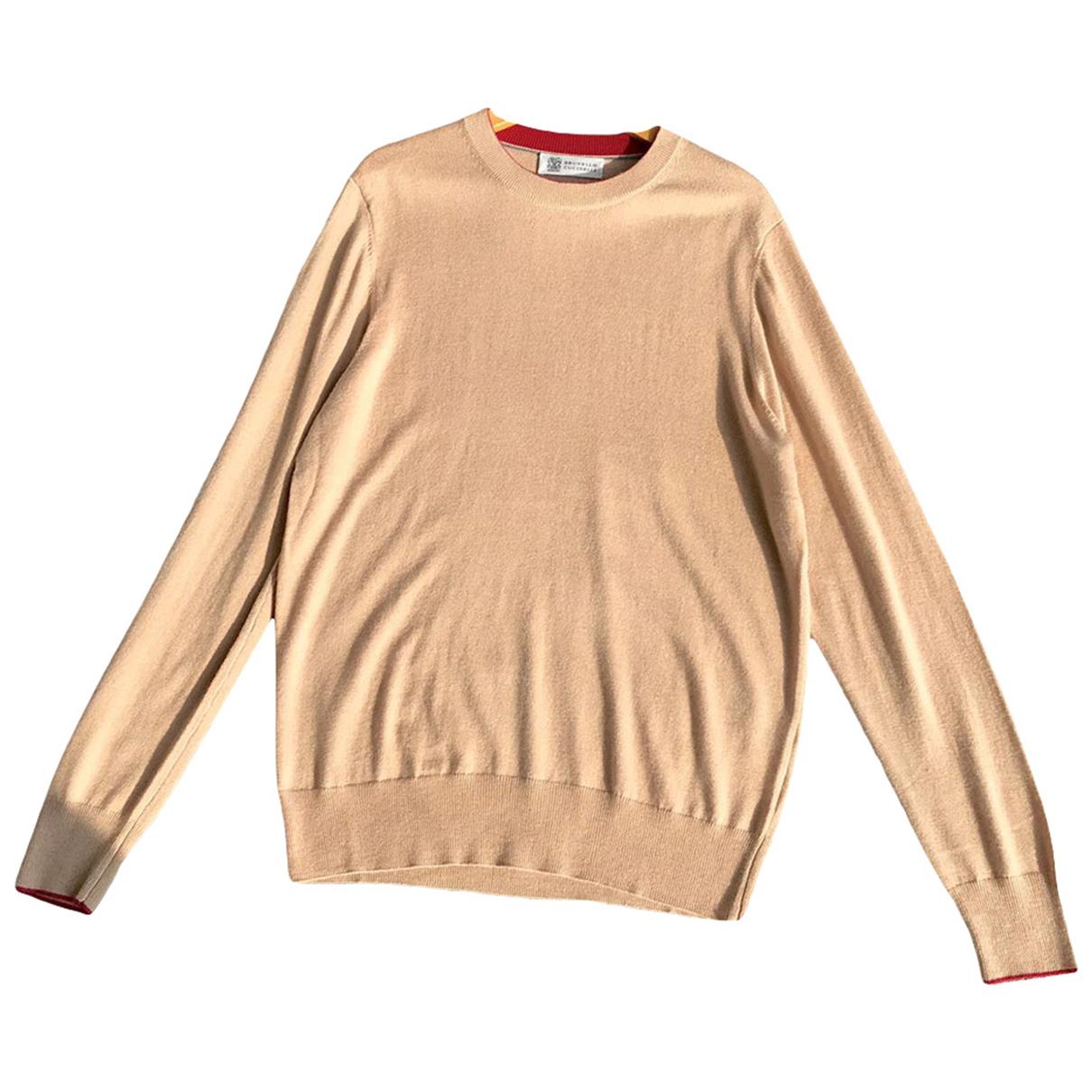 Brunello Cucinelli - Pulls.Gilets.Sweats   pour homme en laine - beige