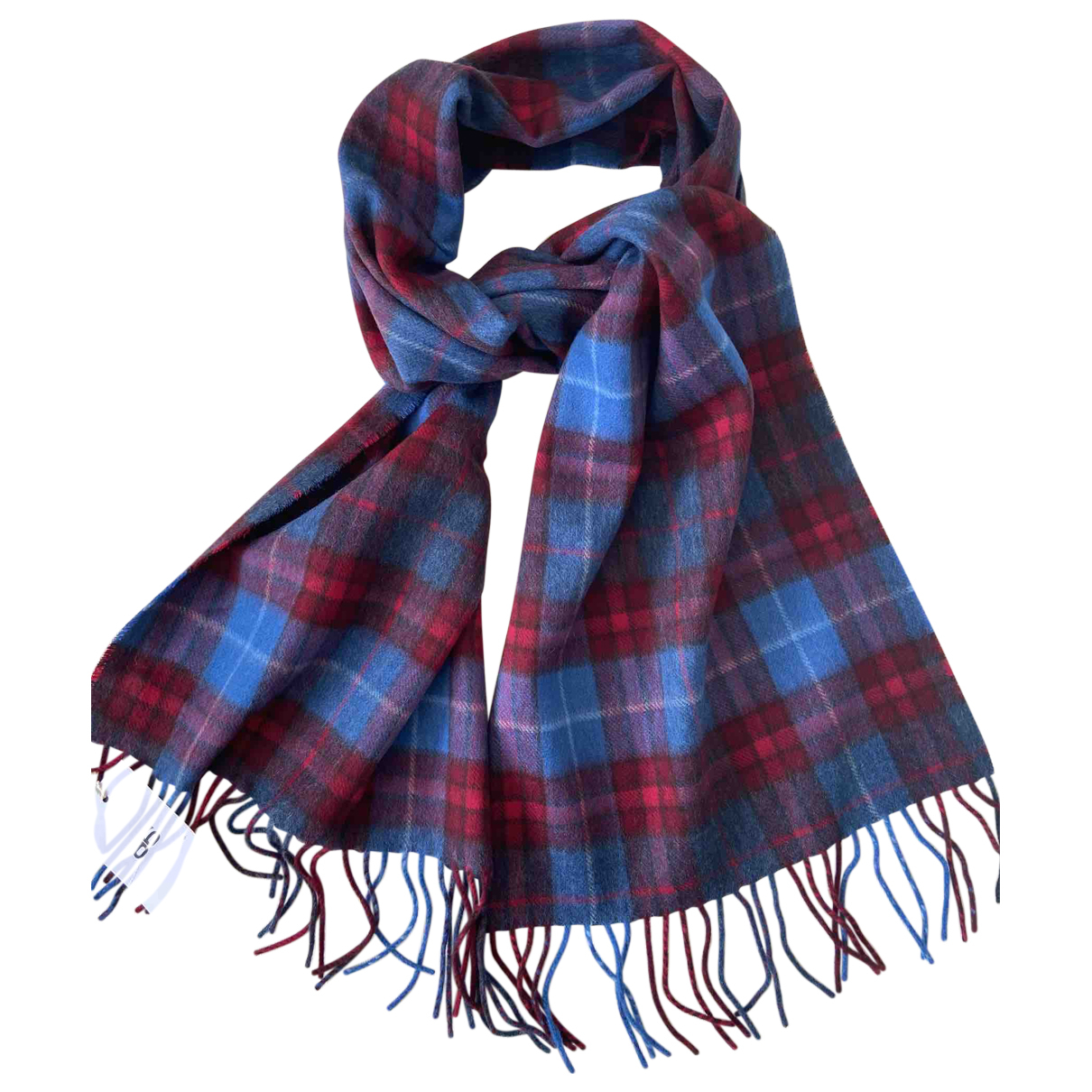 Drake's N Blue Wool scarf & pocket squares for Men N