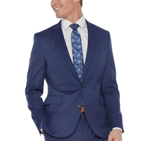 JF J.Ferrar Mens Super Slim Fit Suit Jacket, 38 Regular, Blue