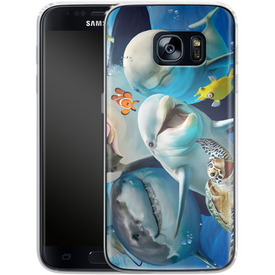 Samsung Galaxy S7 Silikon Handyhuelle - Ocean Selfie von Howard Robinson
