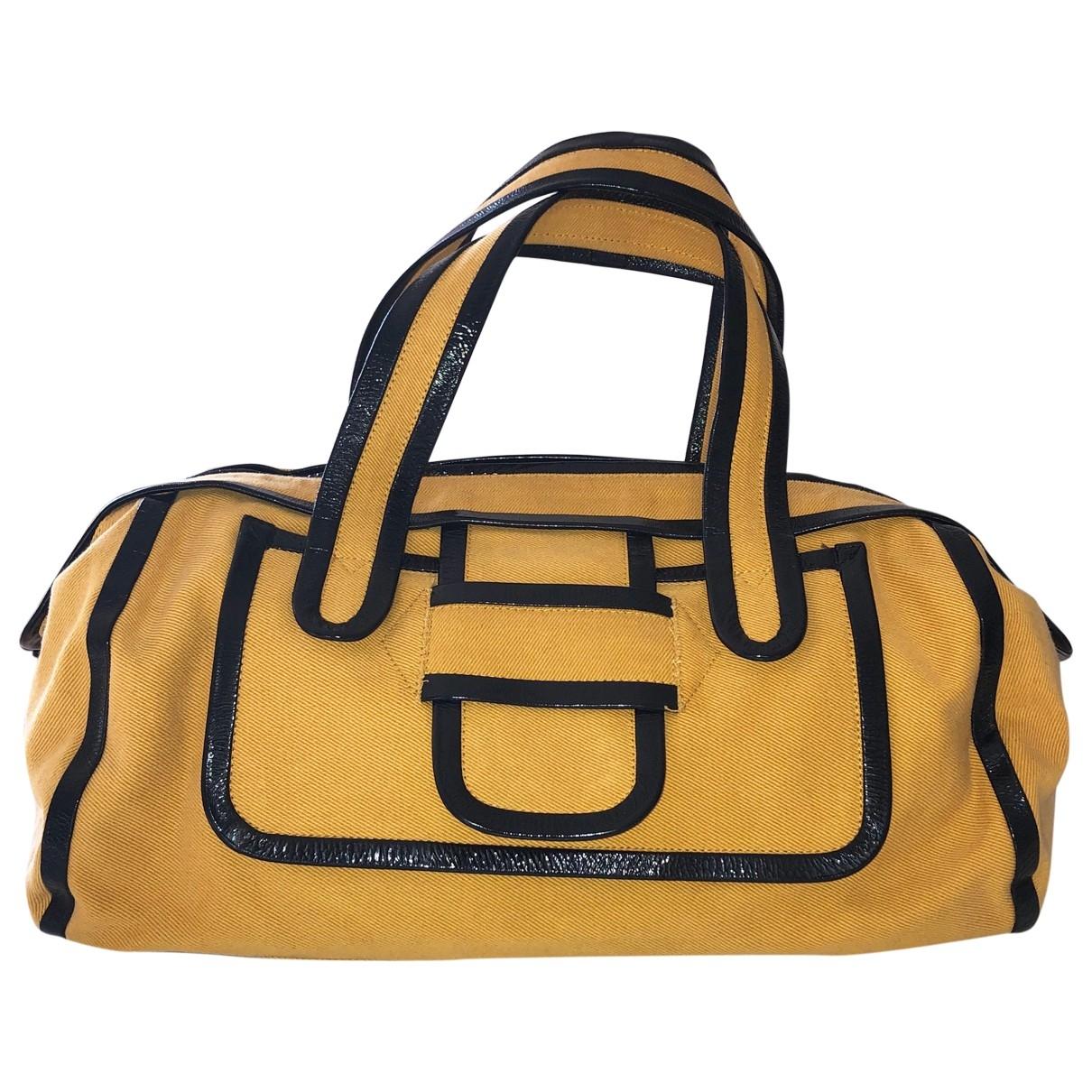 Pierre Hardy \N Yellow Cloth handbag for Women \N