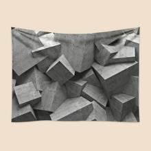 Tapisserie mit 3D geometrischem Muster