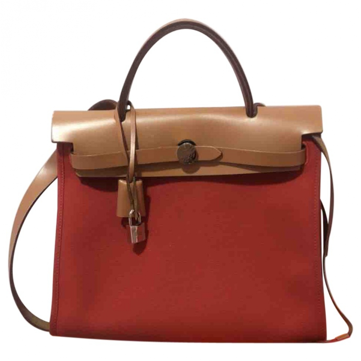 Hermès Herbag Red Cloth handbag for Women \N