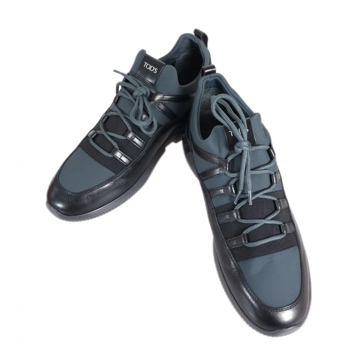 Tods - Baskets   pour homme en toile - noir