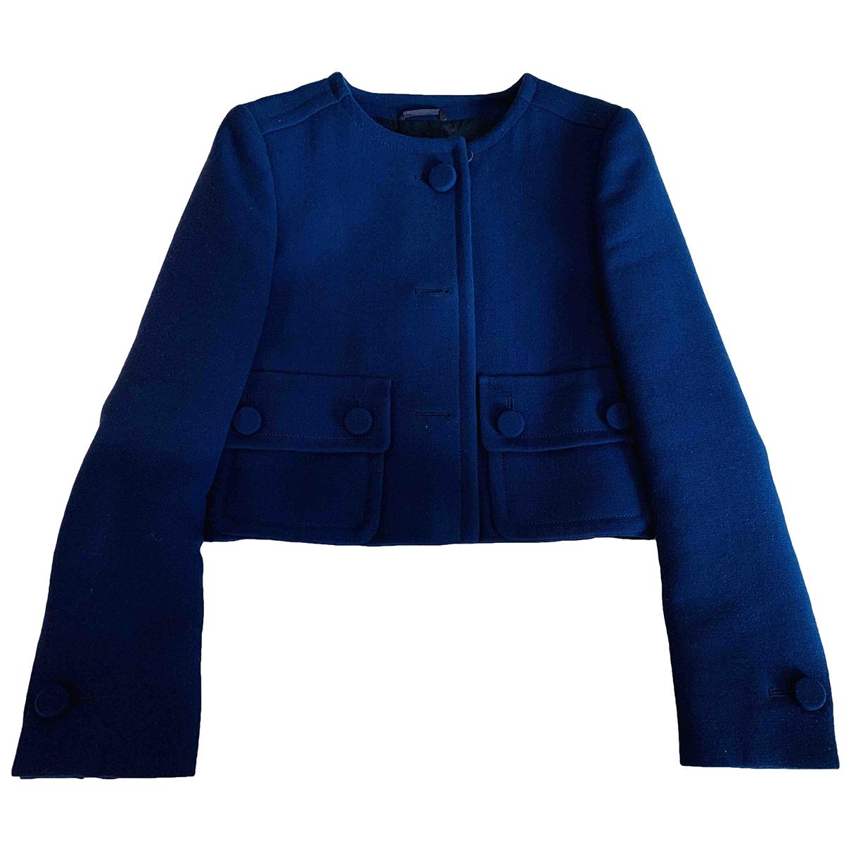 Prada - Veste   pour femme en laine - bleu