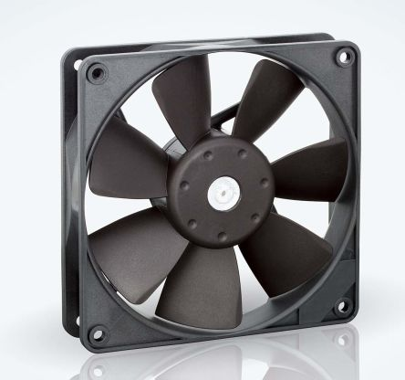 ebm-papst , 24 V dc, DC Axial Fan, 119 x 119 x 25mm, 170m³/h, 5W, IP20