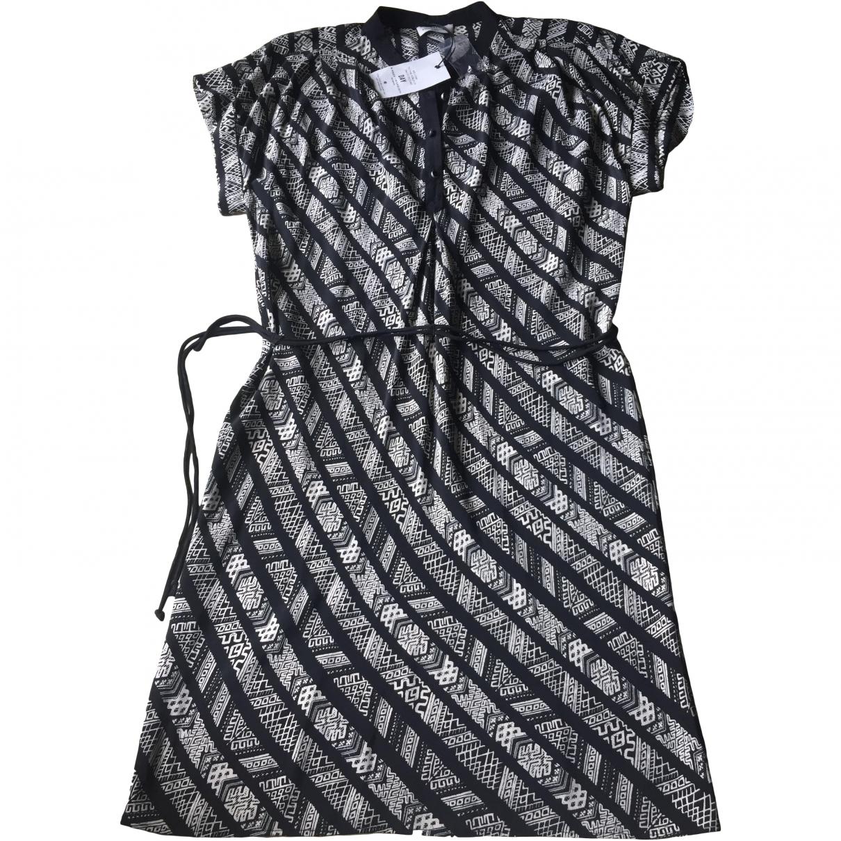 Day Birger & Mikkelsen \N Anthracite Silk dress for Women 10 UK