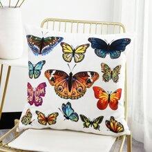 Kissenbezug mit Schmetterling Muster ohne Fuellstoff