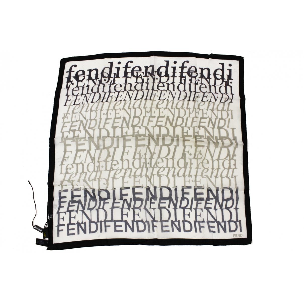 Fendi \N White Cotton Silk handkerchief for Women \N