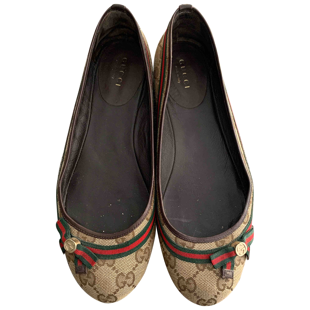 Gucci \N Beige Cloth Ballet flats for Women 36 EU